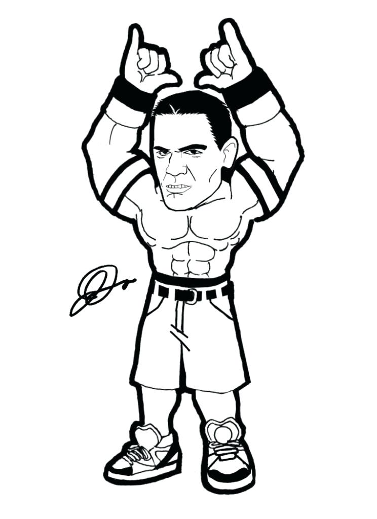 744x1024 Wrestling Color Pages John Coloring Pages Mexican Wrestling