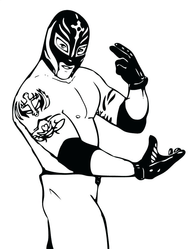 650x840 Wrestling Color Pages Wrestling Color Pages Coloring Pages