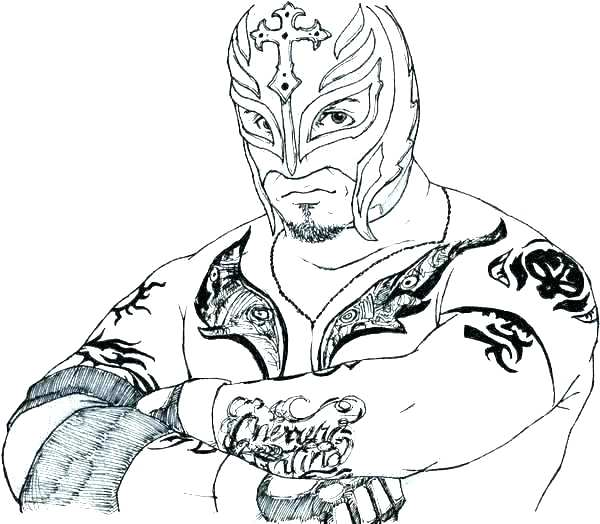 600x524 Wwe Wrestling Coloring Pages Printable