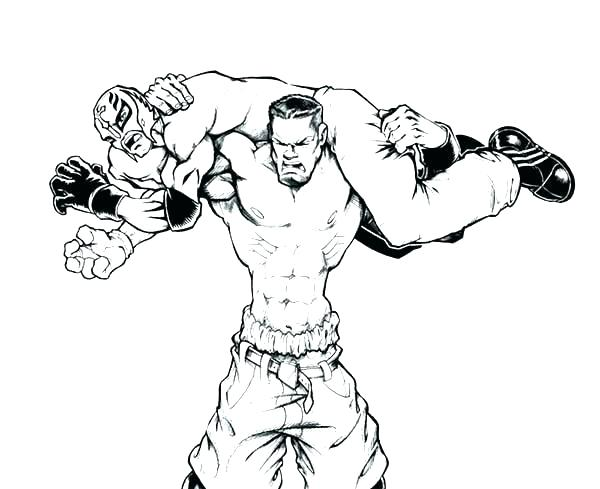 600x489 Latest Wrestling Color Pages Undertaker Coloring Sheets Free