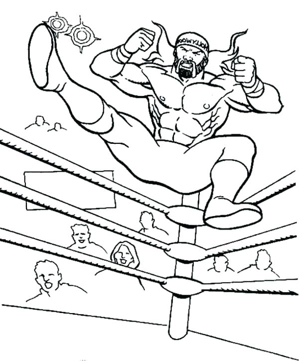 600x723 Ring Coloring Pages Wrestling Coloring Pages Wrestler Coloring