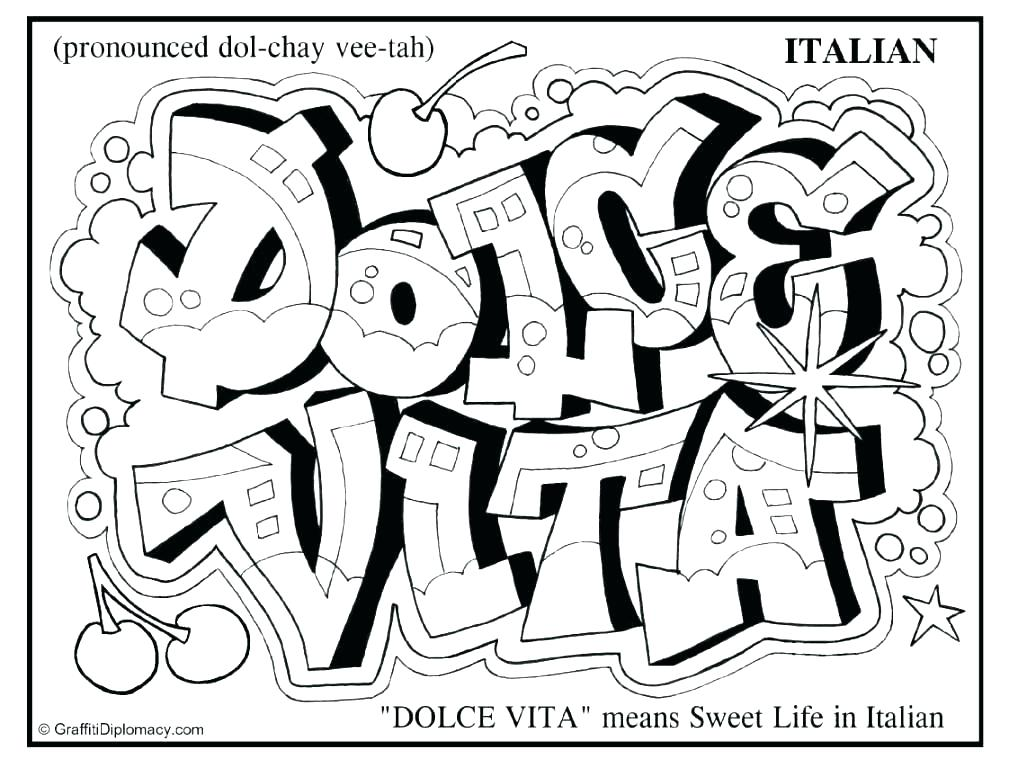 1009x768 Graffiti Writing Coloring Pages Printable Coloring Coloring Pages