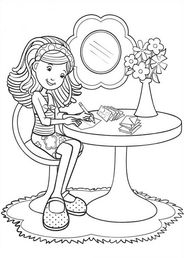 600x840 Groovy Girls Writing Letter Coloring Pages Batch Coloring
