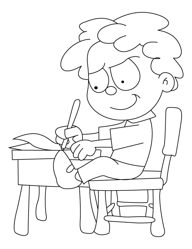 612x792 Writing Coloring Page