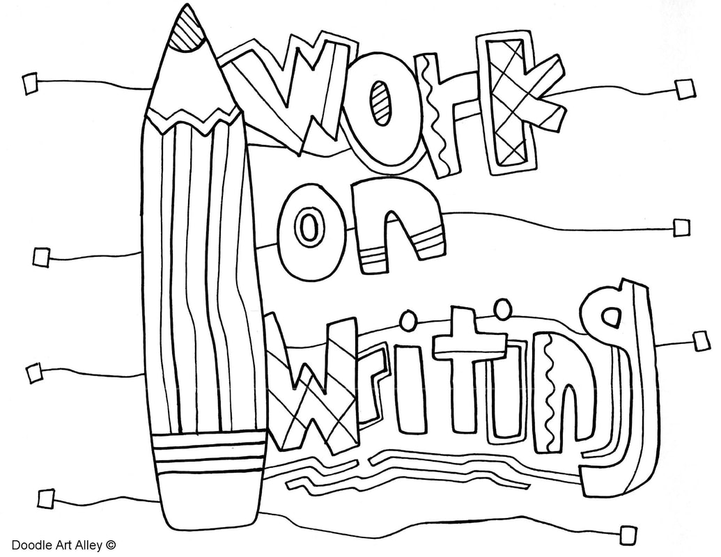 1035x800 Writing Coloring Pages And Printables