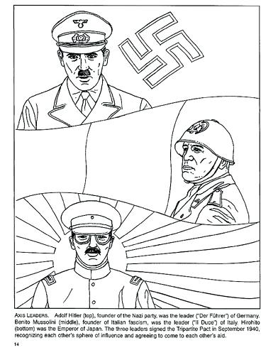 392x500 Axis Leaders Coloring Page World War Coloring Pages Free