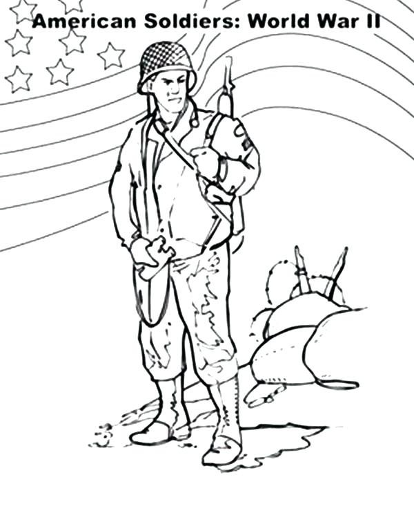 600x755 Soldier Coloring Pages Army Soldier Coloring Pages Soldier