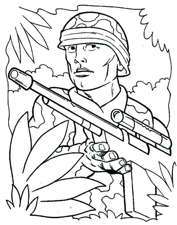 Ww2 Coloring Pages Soldiers At Getdrawings Free Download