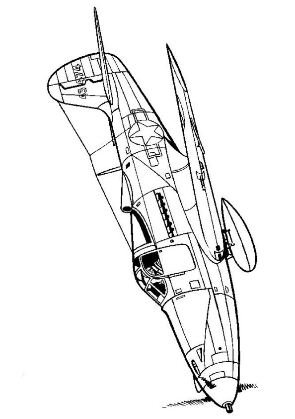 594x842 Kids N Coloring Pages Of Wwii Aircrafts