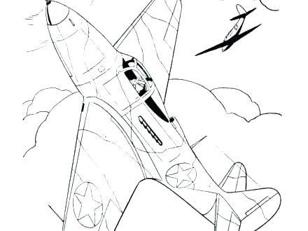 440x330 World War Aircraft Coloring Pages Ii Free Fuhrer Von