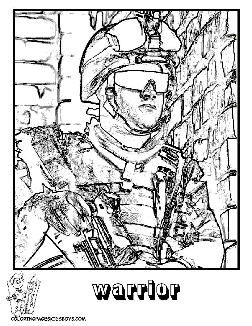 816x1056 Coloring Pages Soldiers