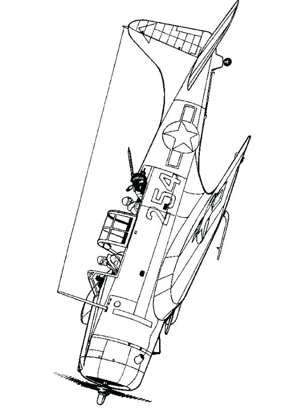 576x812 Coloring Pages Wellington Bomber World War Aeroplane