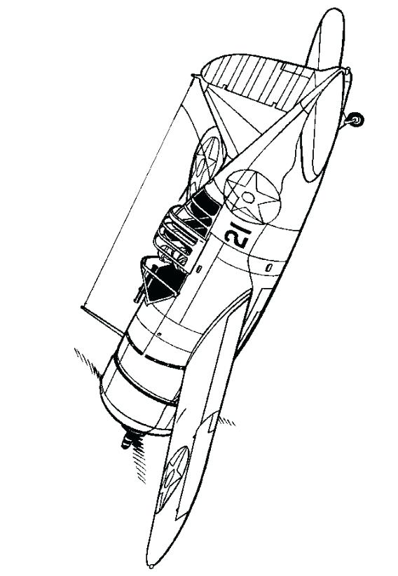 568x822 Wwii Coloring Pages Buffalo World War Aeroplane Colouring