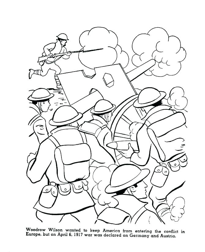 670x820 Wwii Coloring Pages