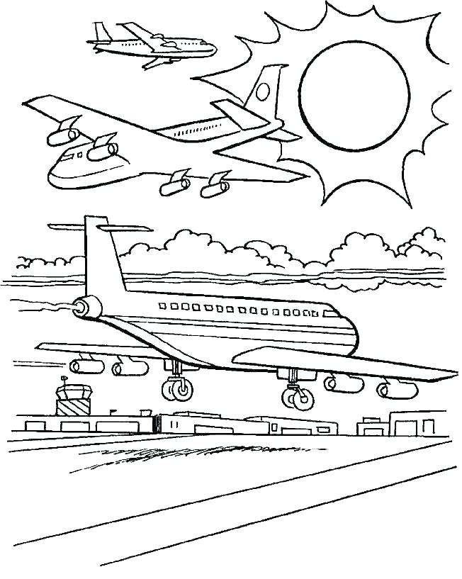 652x817 Airplane Coloring Pages Free Large Size Of Airplane Coloring Page