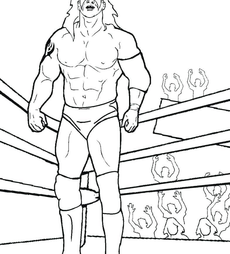 784x864 Wrestling Coloring Pages Wwe Champion Belt Coloring Pages