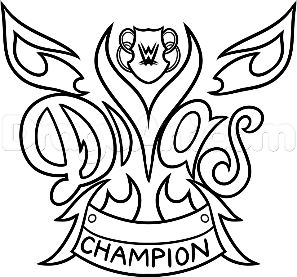 958x893 Champion Symbol Wwe Coloring Pages