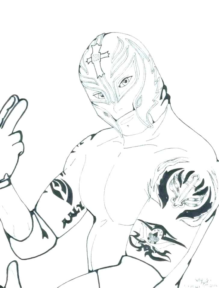 728x956 Wrestlers Coloring Pages