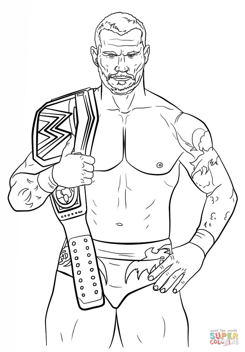 824x1186 Dazzling Design Free Printable Wwe Coloring Pages Randy Orton Page