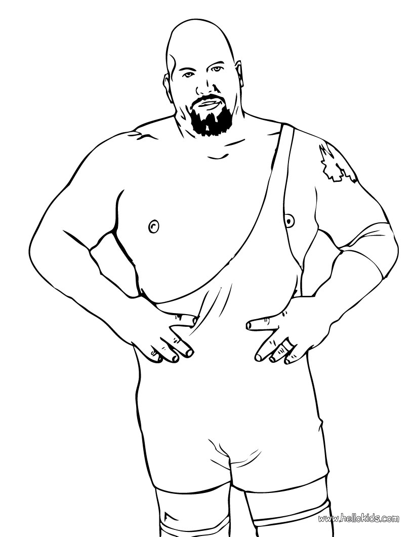 820x1060 Big Show Color And Print The Bog Show Coloring Page