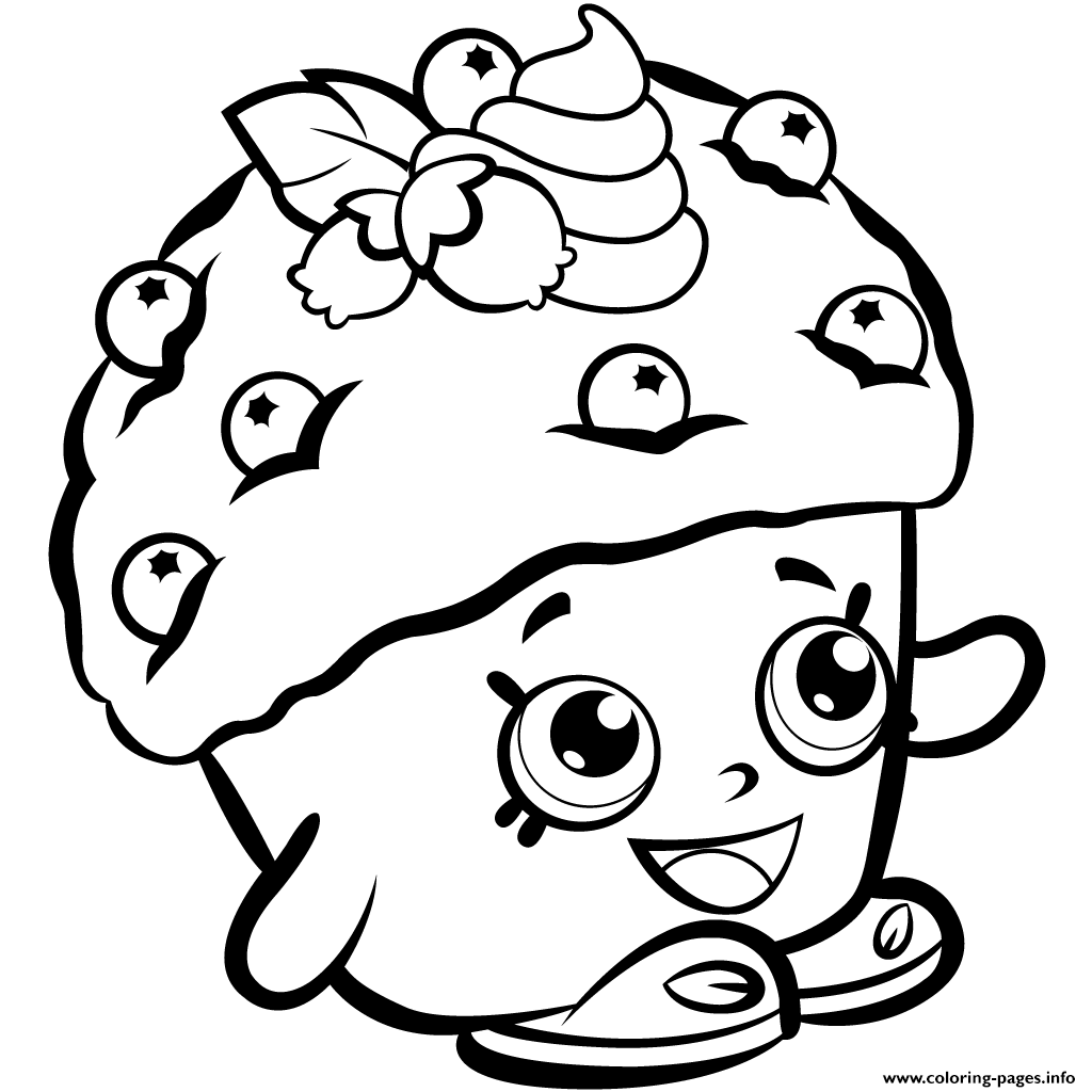 1024x1024 Mini Coloring Pages Muffin Shopkins Season