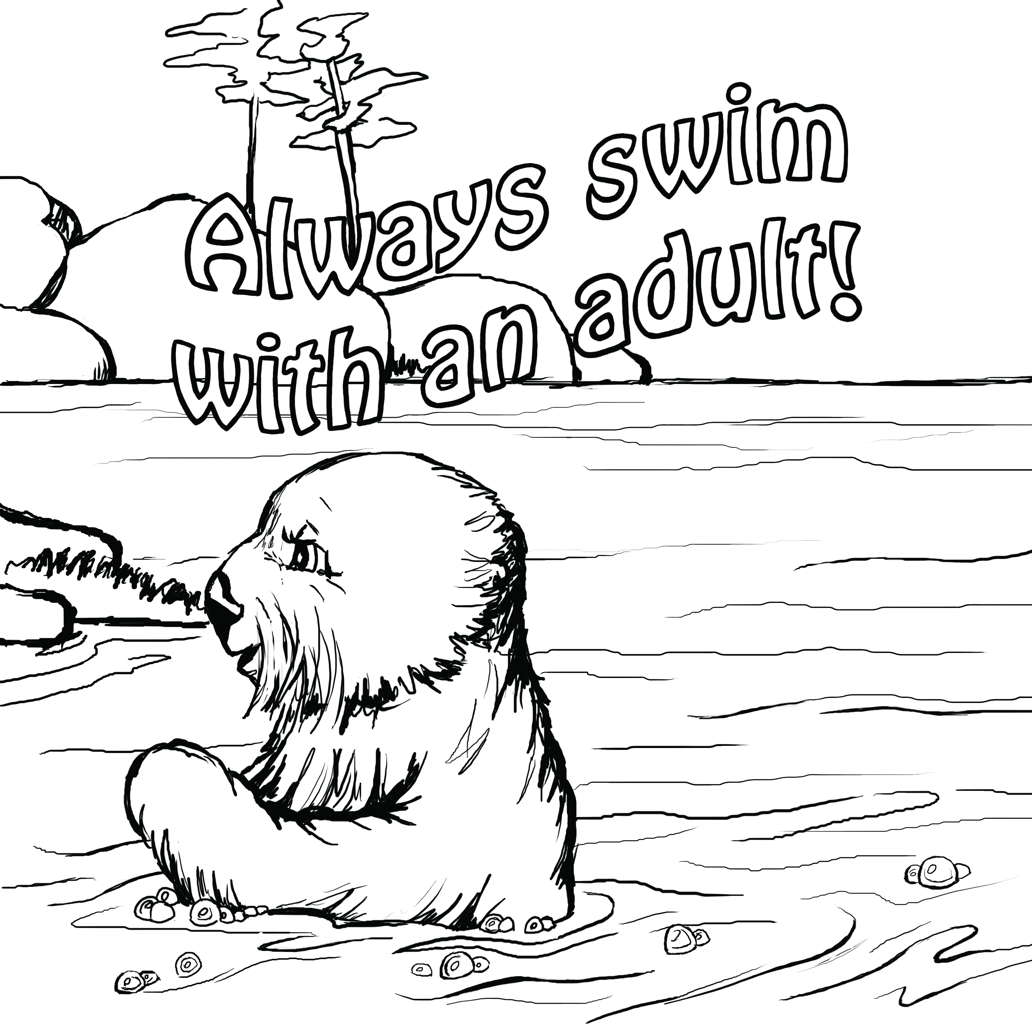 3300x3300 Water Safety Coloring Pages