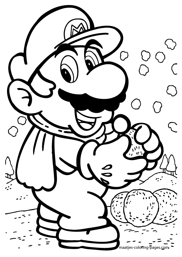 595x842 Free Printable Mario Coloring Pages For Kids