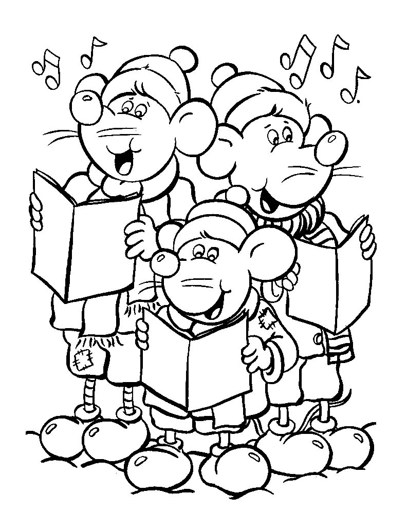792x1036 Rats Singing Christmas Song Coloring Pages Free Coloring Pages