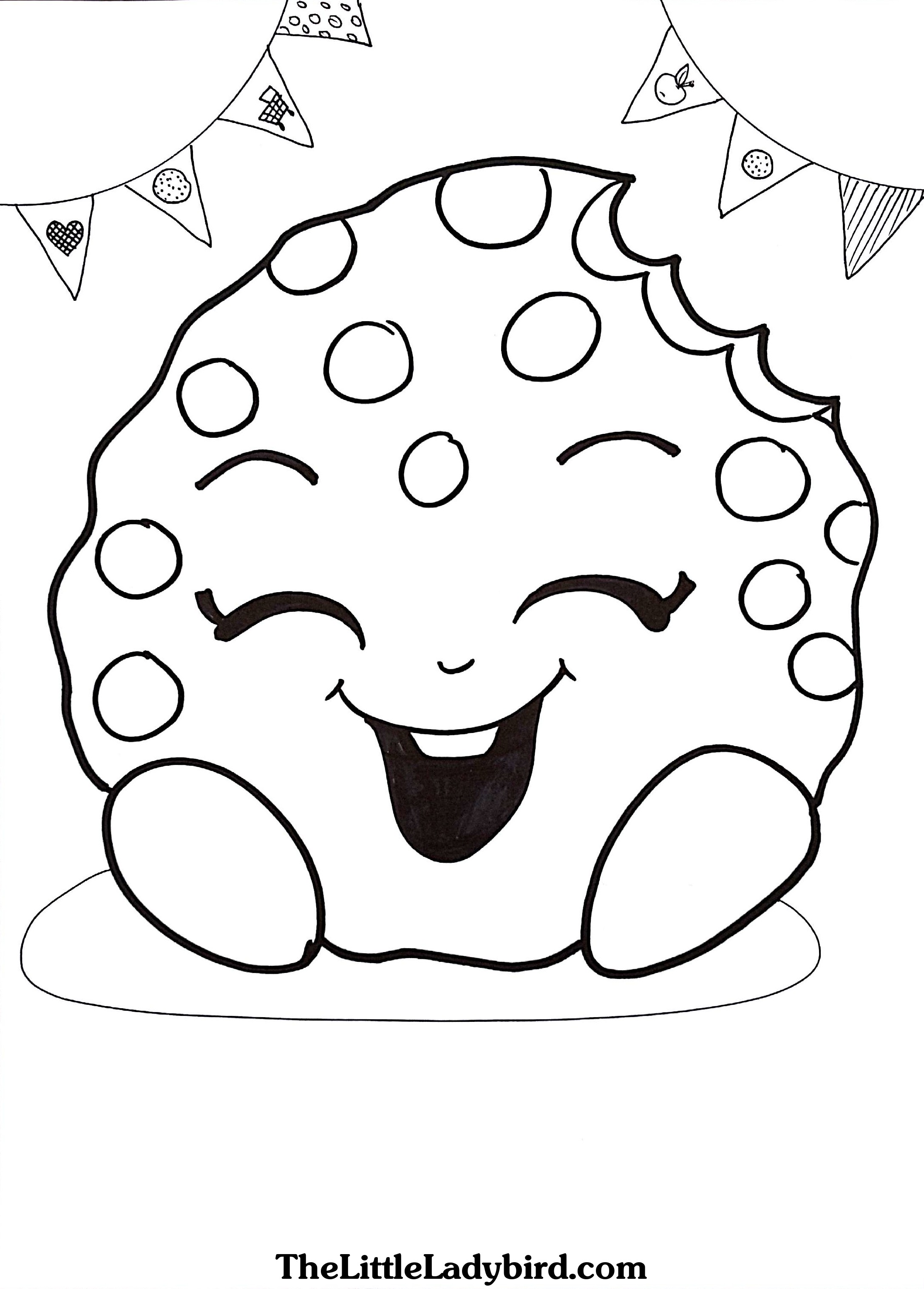 2174x3030 Trendy Design Shopkins Coloring Pages Free Kooky Cookie Page Com