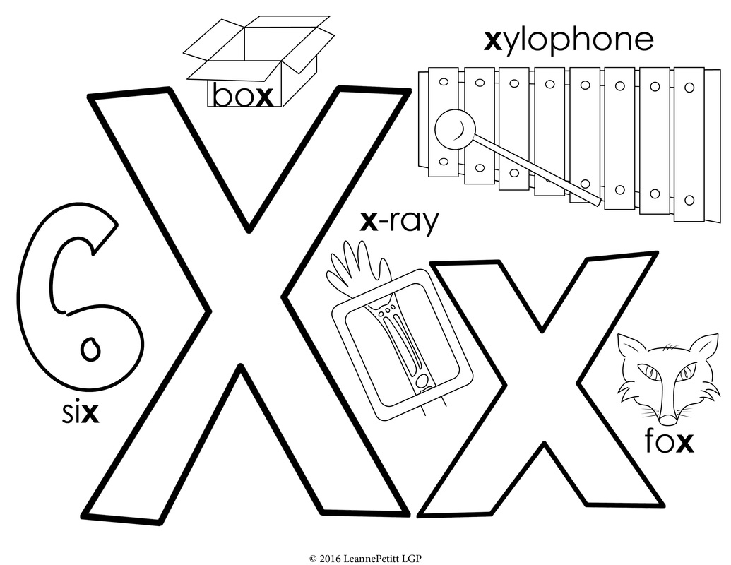 1035x800 Alphabet Coloring Pages Little Genius Projects Tracing Letter X