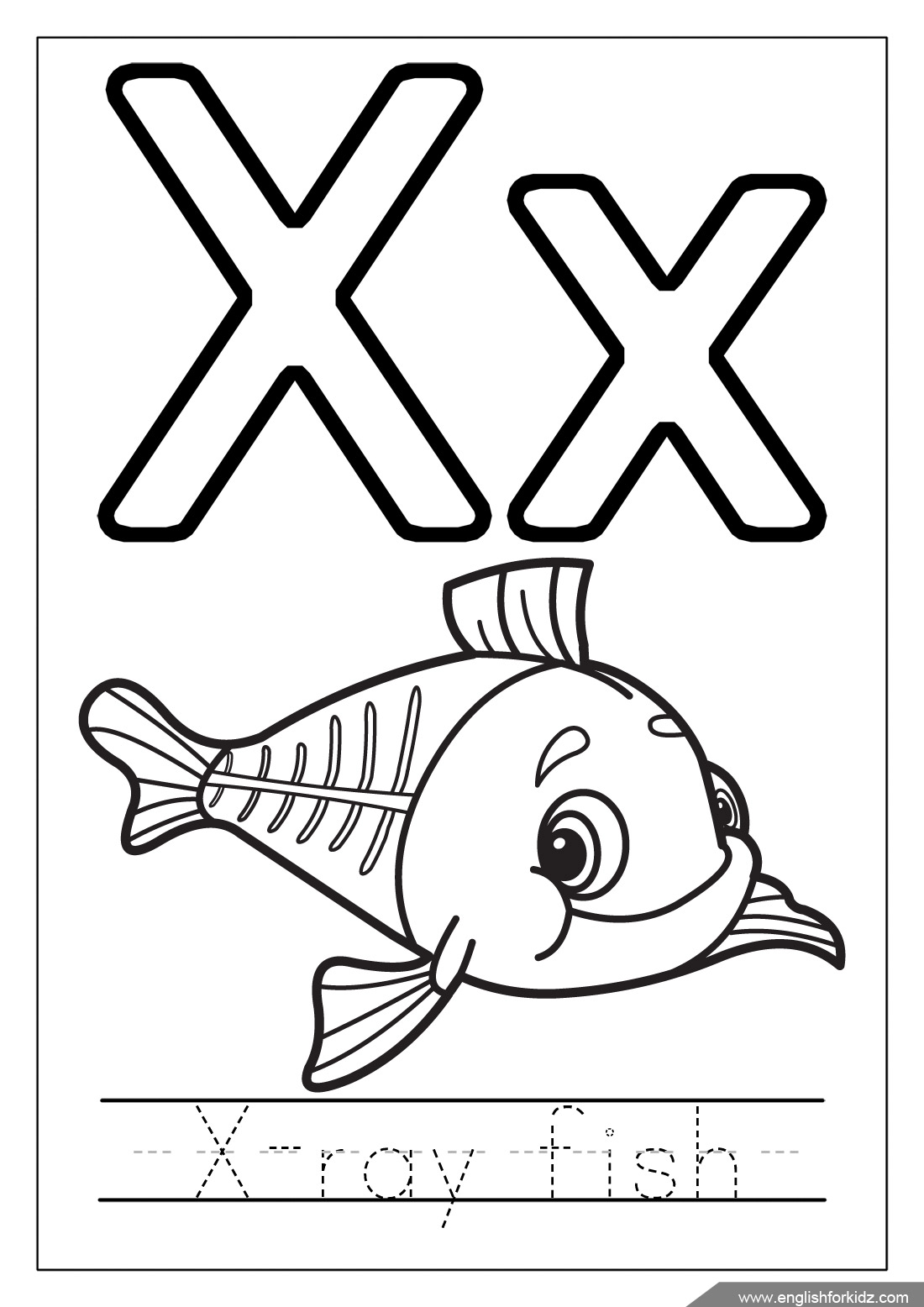 1100x1556 Inspiring Letter X Coloring Page Cool And Best Ideas