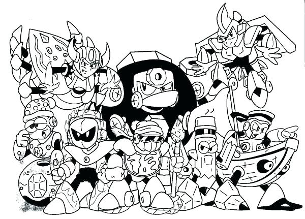 600x431 Mega Man Coloring Pages Coloring Pages Robot Masters