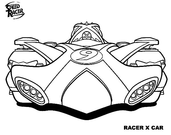 600x472 Awesome Racer X Car Of Speed Racer Coloring Pages Best Place