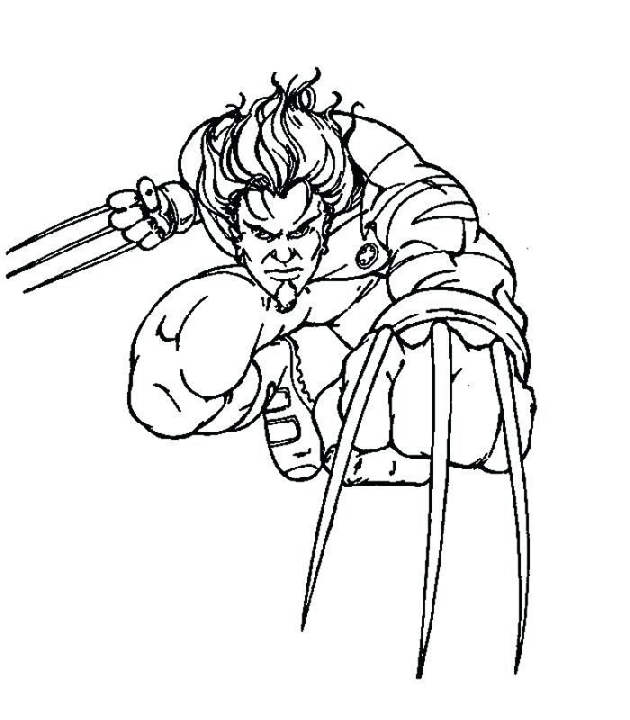 700x800 Xmen Coloring Pages Free Printable X Men Coloring Pages For Kids