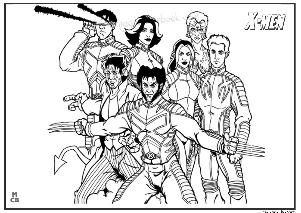 990x703 Xmen Coloring Pages Free X Men Coloring Pages Free Printable