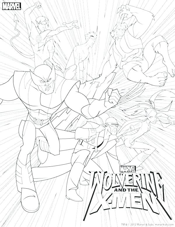 600x776 Wolverine Color Pages X Men Coloring Pages Free Marvel Wolverine