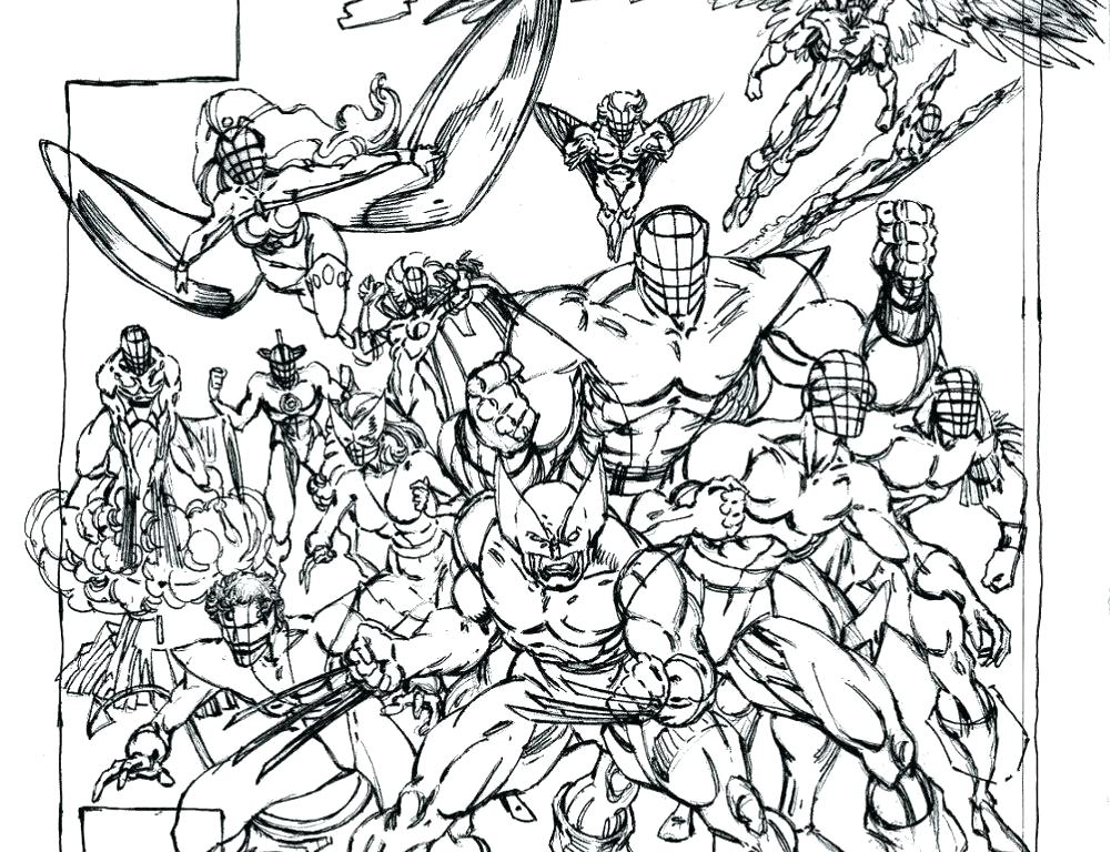 1001x768 Coloring Pages Free Printable X Men Coloring Pages For Kids
