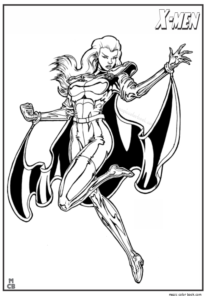 685x975 X Men Coloring Pages Free Printable