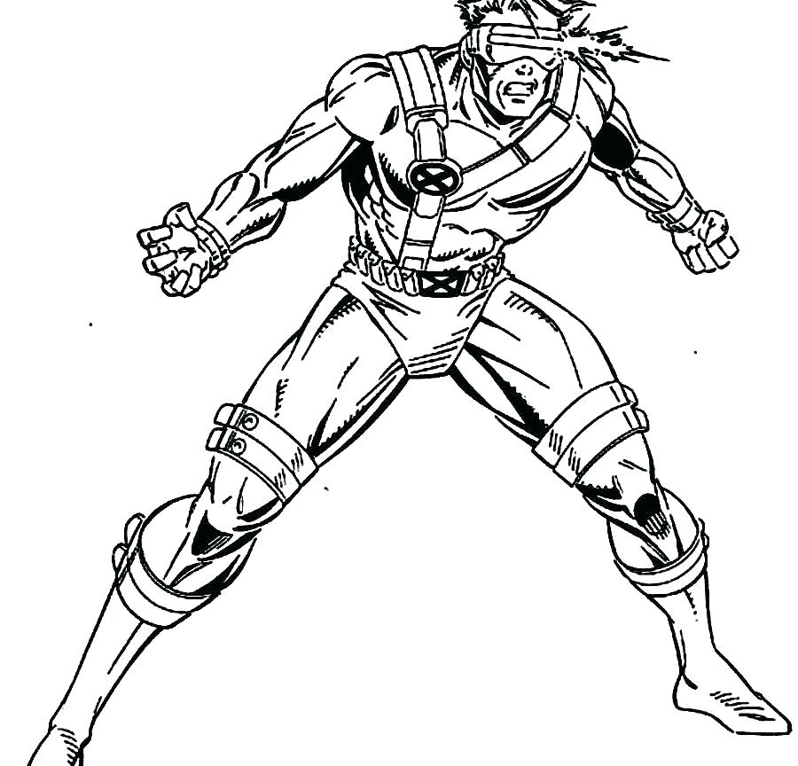 900x864 Coloring Pages Wolverine