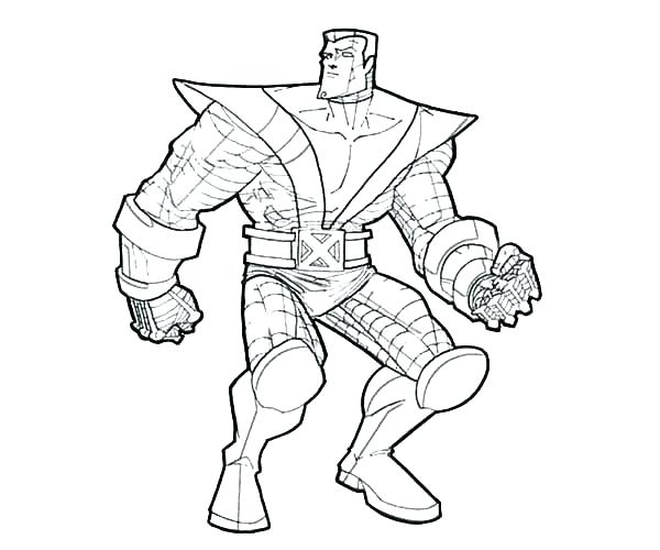 600x500 Cyclops Coloring Page X Men Coloring Pages Free Printable X Men