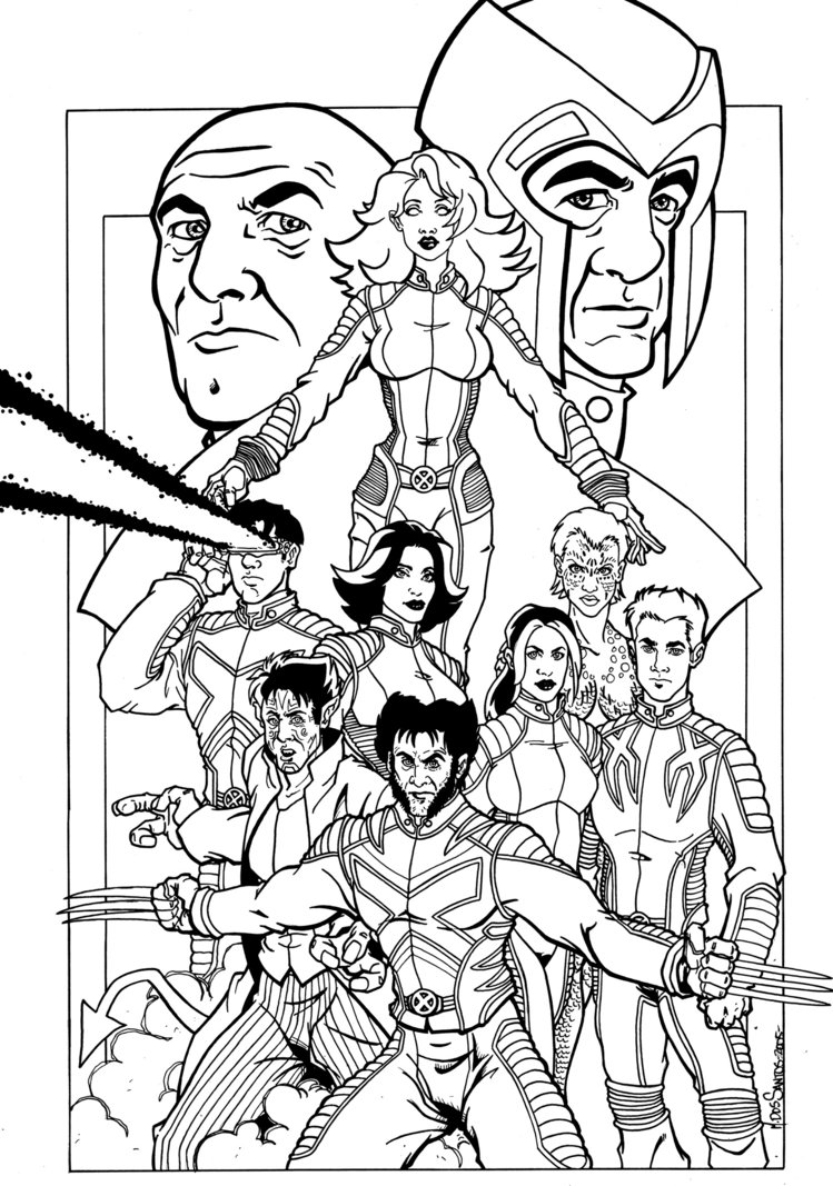 749x1067 Xmen Familiy Coloring Pages X Men Craft New Ahmedmagdy