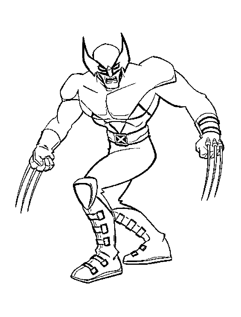 800x1050 Free Printable X Men Coloring Pages For Kids