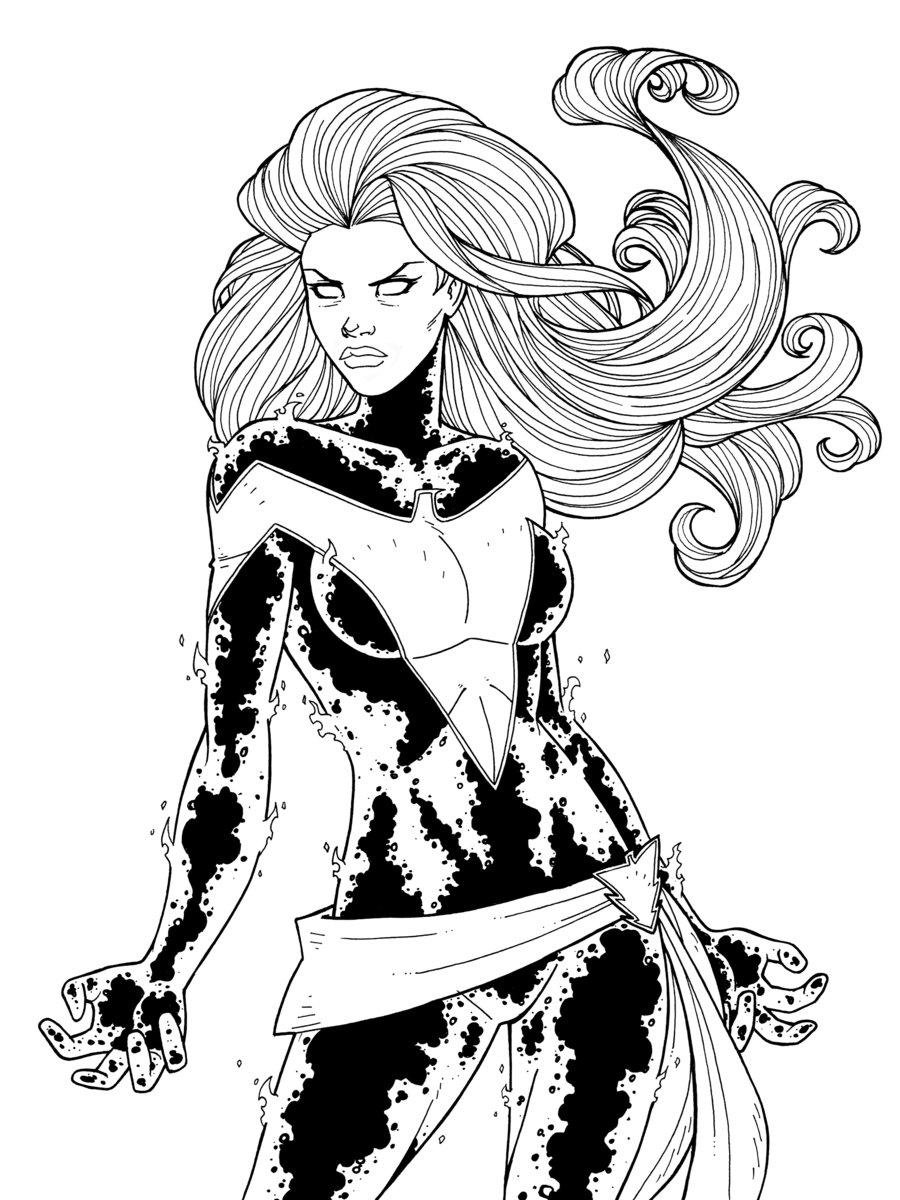 900x1200 Images Of Marvel Phoenix Coloring Pages