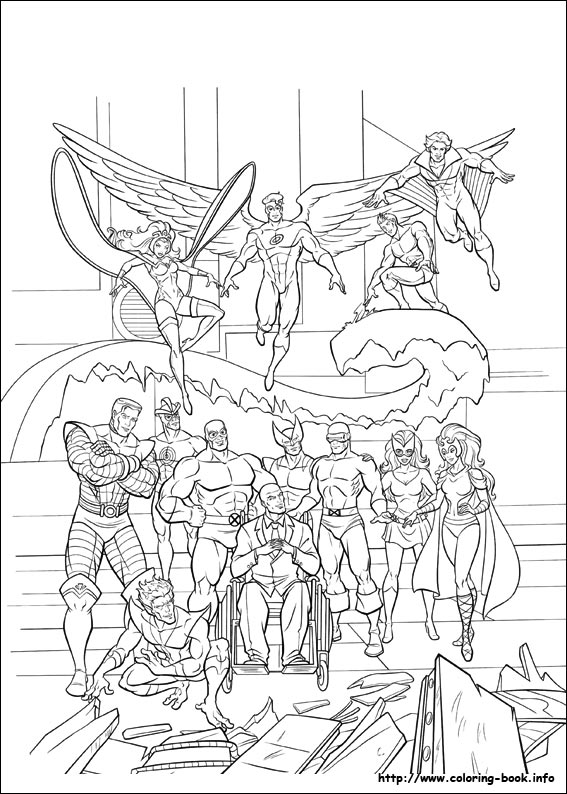 567x794 X Men Coloring Pages On Coloring
