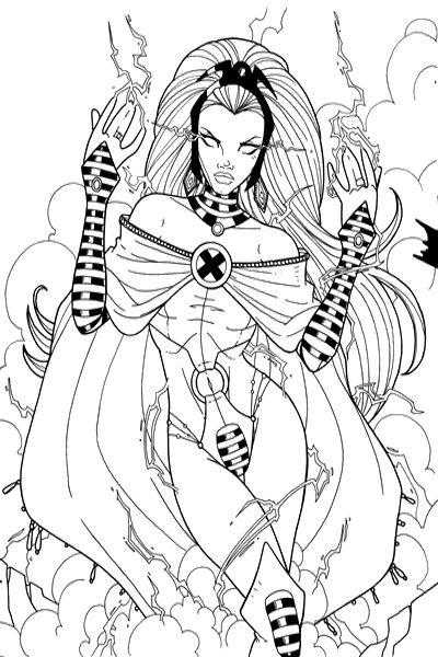 400x600 X Man Storm Girl Coloring Pages Art Storms