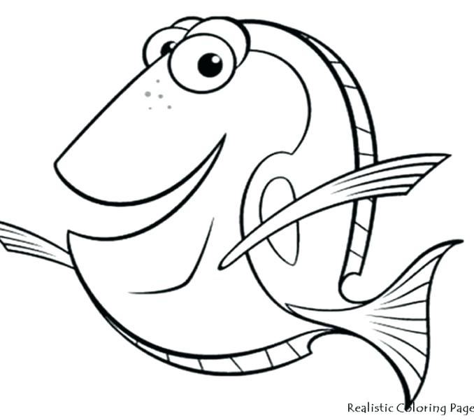 678x600 Cartoon Fish Coloring Pages Sh Coloring Pages For Preschoolers