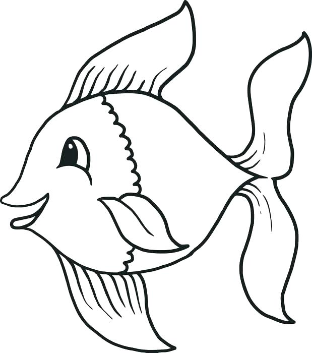 619x700 X Ray Fish Coloring Page Fish Images To Color Coloring Pages Fish