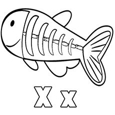 230x230 X Ray Fish Coloring Pages A To Z Animals Fish