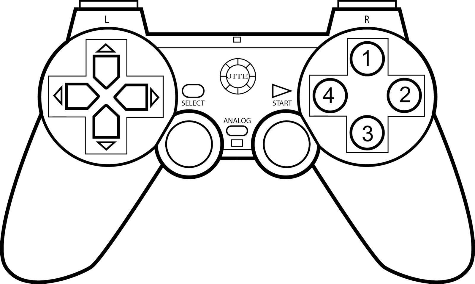 1600x955 Coloring Page Xbox Controller Inside Video Game