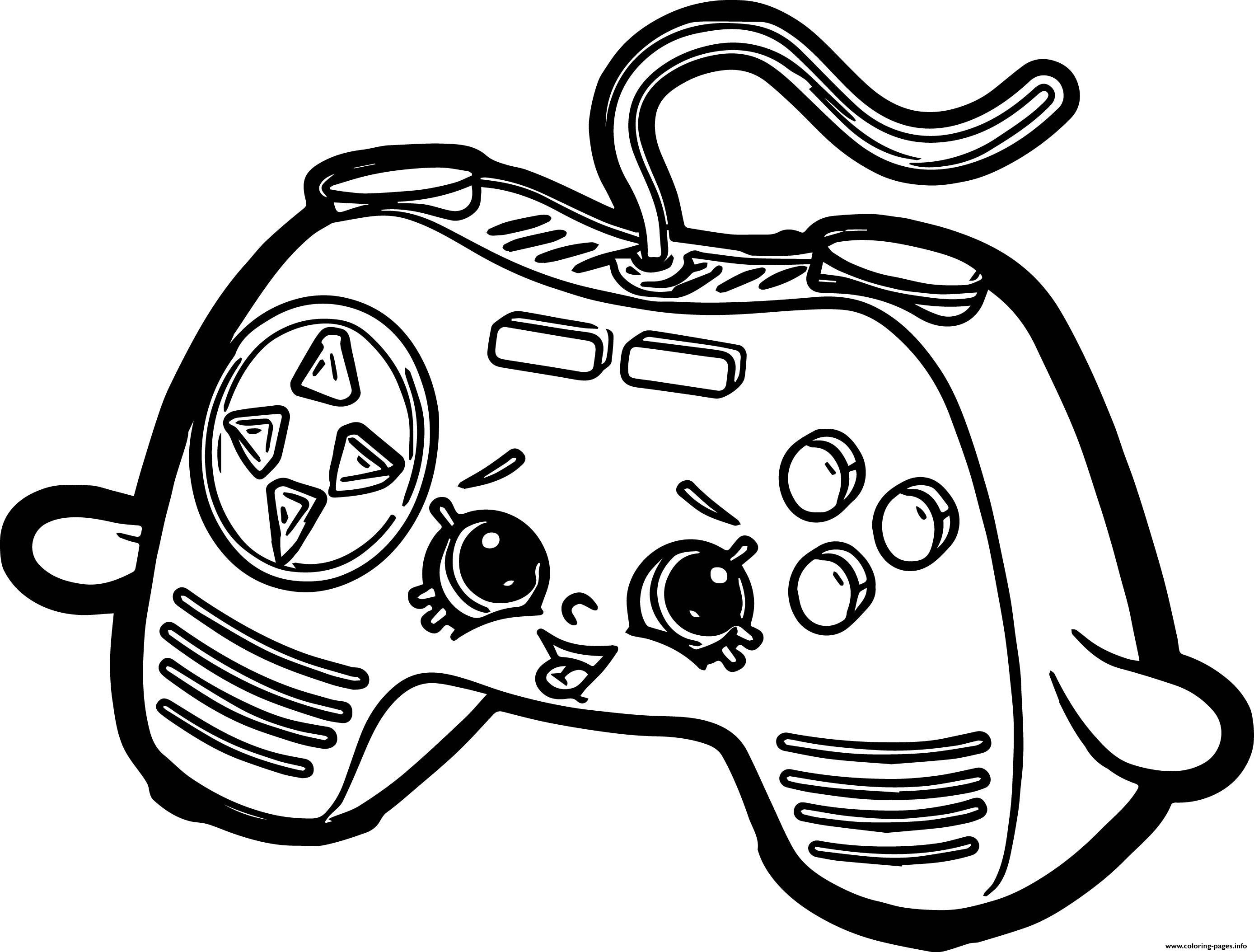 2776x2107 Video Game Also Controller Coloring Page